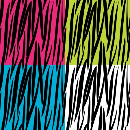 Zebra skin pattern seamless background Vector