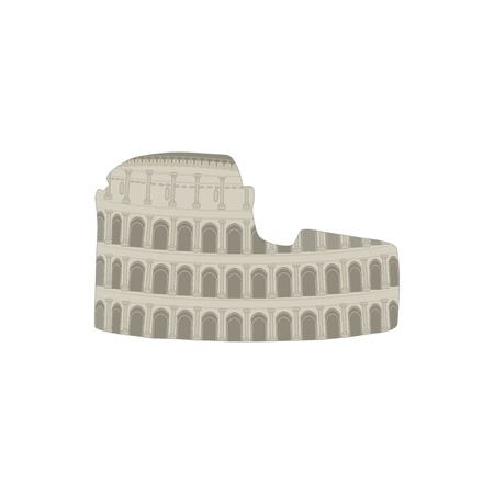 colosseo: Colosseum  Vector illustration  Illustration