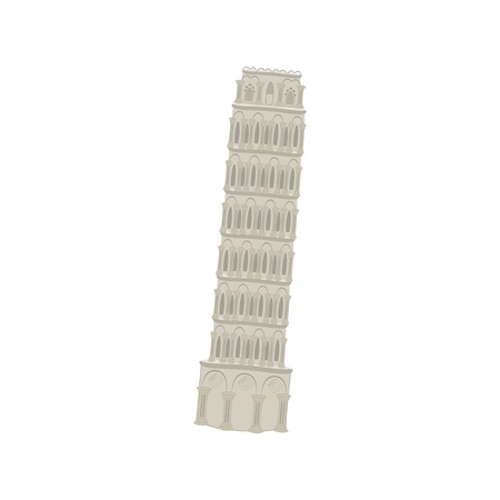 tower of pisa: Pisa tower vector illustration  Illustration