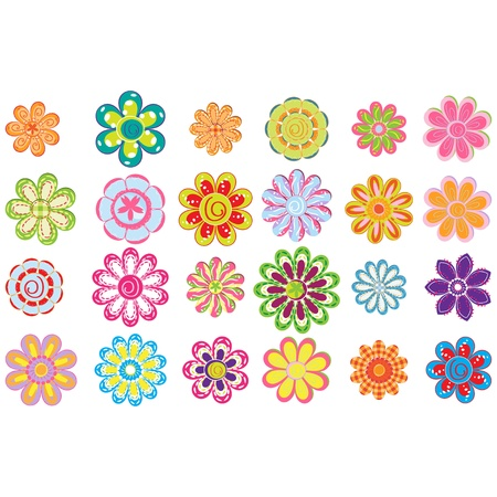 Colorful flowers set  Stock Vector - 17748544