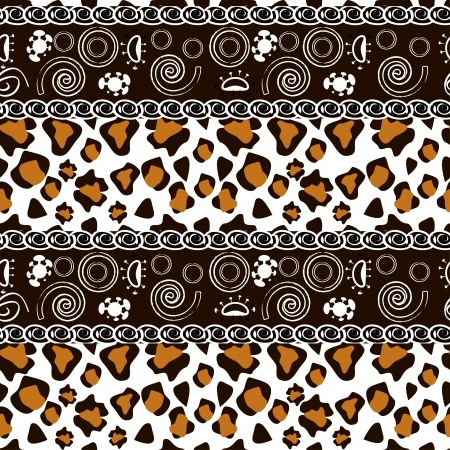 African style seamless with cheetah skin pattern  Stock Vector - 18001895