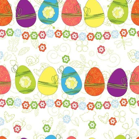 Easter egg pattern seamless background