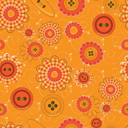 Flower and knob pattern seamless background  Vector
