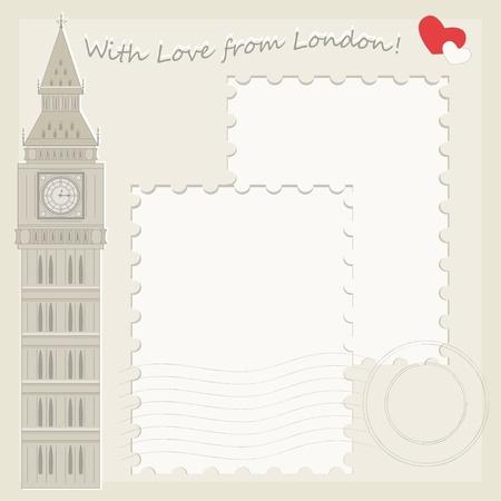 Big Ben greeting card Stock Vector - 18155938