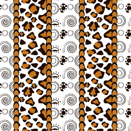 African style seamless with cheetah skin pattern  Vector