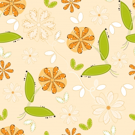 Flower pattern seamless background
