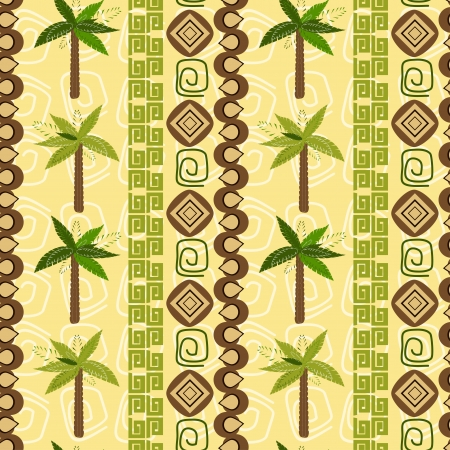 Abstract background with palm pattern