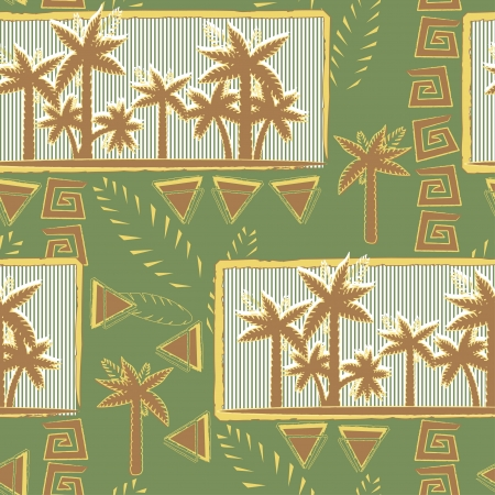 Palm trees pattern seamless Illustration