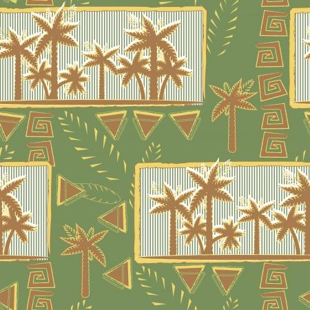 Palm trees pattern seamless Illustration