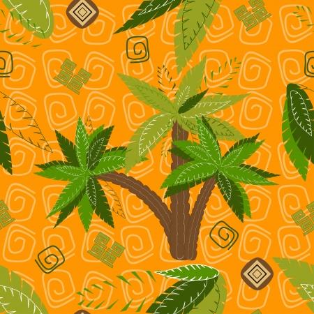 Palm trees pattern seamless background