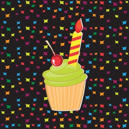 Happy Birthday greeting with cake