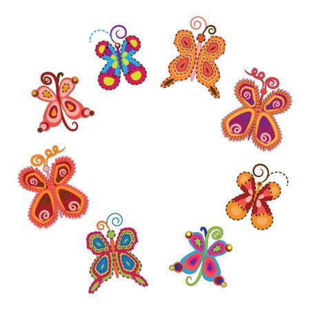 Set of cute butterflies