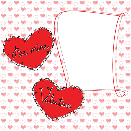 Valentine day greeting card with heart Illustration