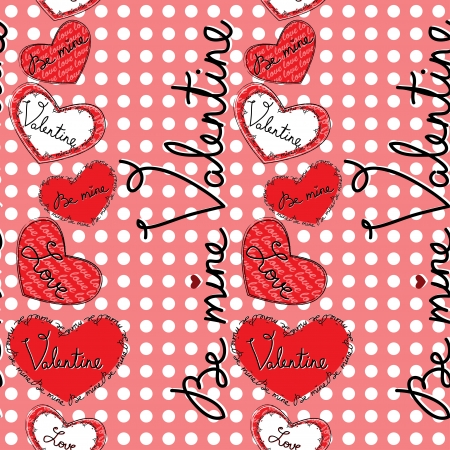 Valentine motives seamless pattern with hearts