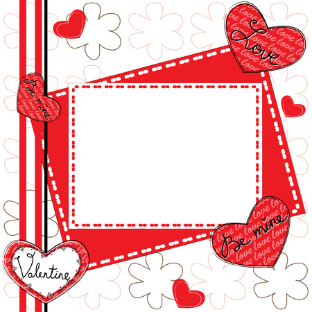 Happy Valentine s Day Greeting Card  Vector illustration