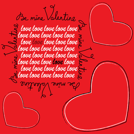 valentine s card: Happy Valentine s Day Greeting Card  Vector illustration