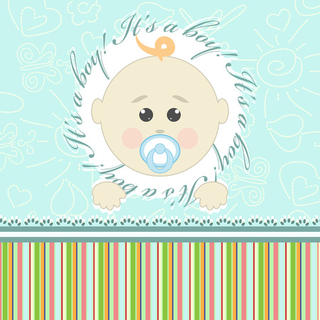 Greeting card for little boy Illustration