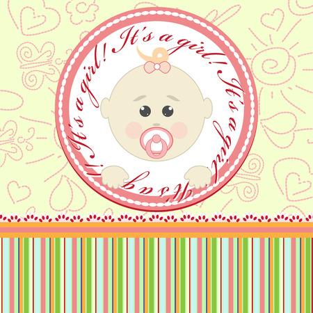 Greeting card for little girl