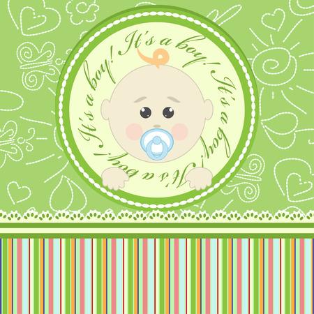 Greeting card for little boy Illustration