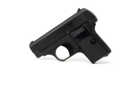 Old BB gun isolated on white