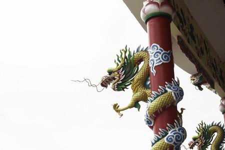 ar: Thousand Pillar Dragon isolated on white background Stock Photo