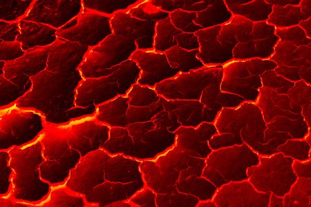 molten: The texture of molten lava Stock Photo