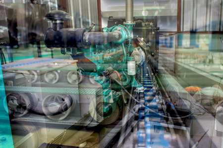 Industria di produzione. idea di concetto