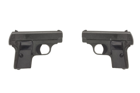 2 Gun isolated on white background, Concept
