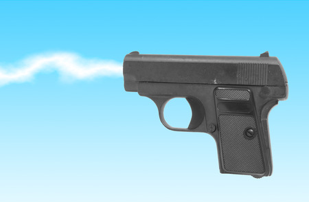 Gun isolated on white background, Concept