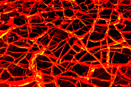 The texture of molten lava Stock Photo