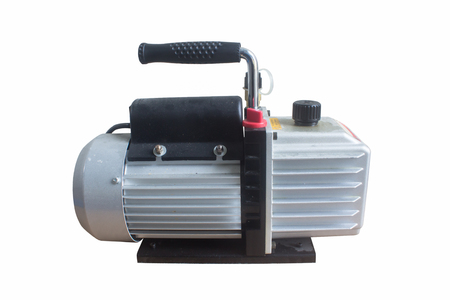 Vacuum pumps are widely used in the refrigeration. also be applicable as the pre-pump of various types of high vacuum equipment. on white background
