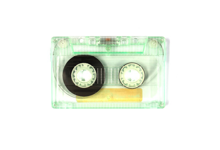 cassette tape: Cassette tape on white background