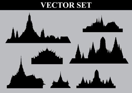Thai temple set  file Vector