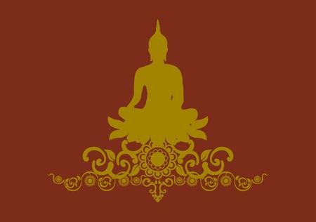 thai buddha: Silueta de Buda tailand�s