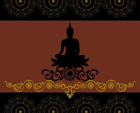 believes: Silhouette of Thai Buddha