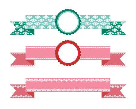 chatbox: Vector ribbons set