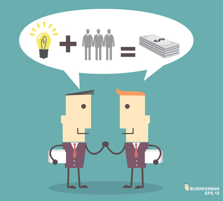 Business people shaking hands illustration vector file eps10.success concept