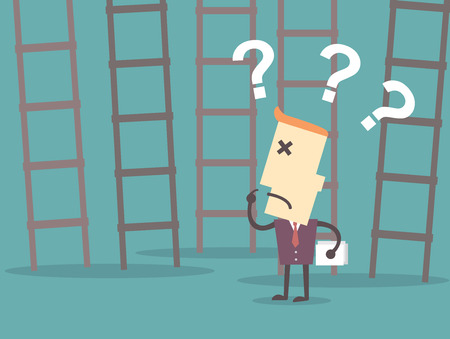 Ladder to success. Business choices concept.illustration vector format eps10