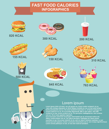 Fast food infographics vector format eps10 Vector