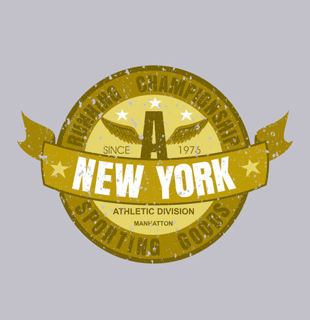 New York running typography, t-shirt graphics, vector  format eps 10