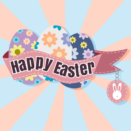 ostern: Happy Easter Typographical soft Background vector format eps 10