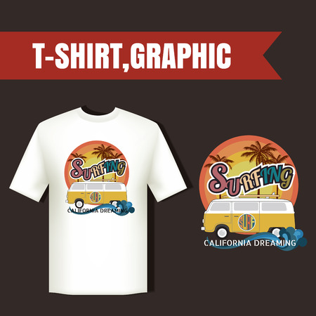 rescue west: California surf typography, t-shirt graphics , vector format eps10