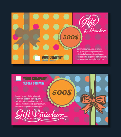Voucher template with premium  pattern. vector format eps 10