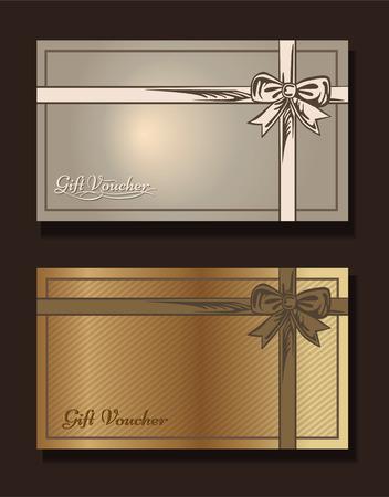 silver frame: Voucher template with premium vintage pattern. vector format eps 10 Illustration