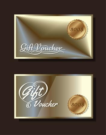 Voucher template with premium vintage pattern. vector format eps 10 Illustration