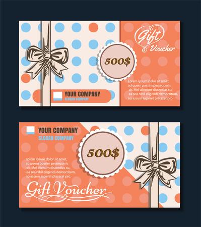 Voucher template with premium vintage pattern. vector format eps 10 Stock Vector - 43580350