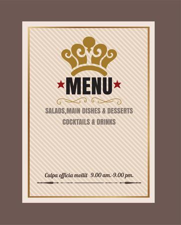 Restaurant Food menu on chalkboard  Illustration