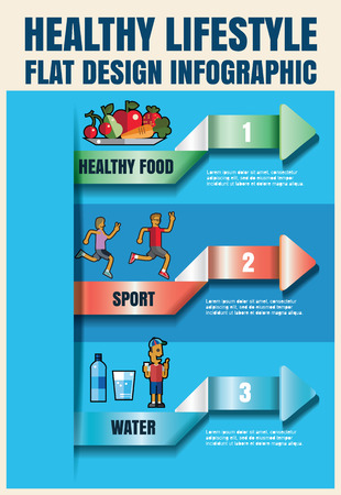 metrics: Man and woman Sports, running, healthy lifestyle,food ,drink more water Vector flat icon illustrations  format eps 10 Illustration