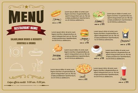 Restaurant Food Menu Design  vector format Illustration