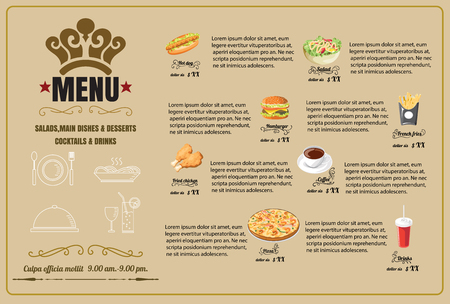 menu: Restaurant Food Menu Design  vector format Illustration